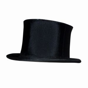 Vintage Black Clapper Top Hat