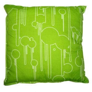 Liquid Bubble Square Accent Pillow Green