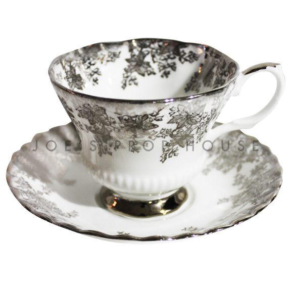 Laura Floral Teacup and Saucer