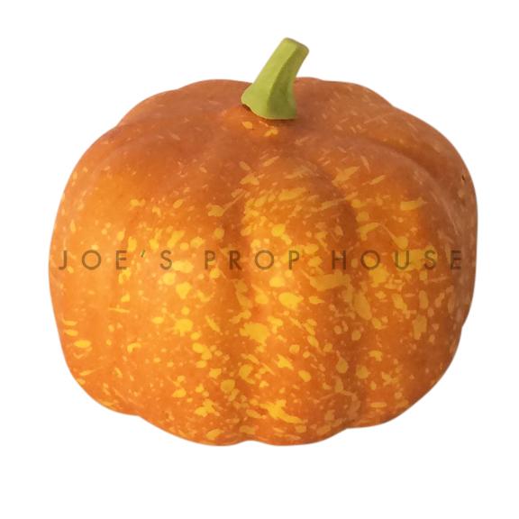 Artificial Mini Round Spotted Orange Pumpkin