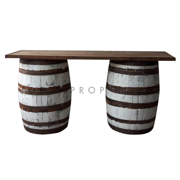 Whitewash Barrel Bar L6ft