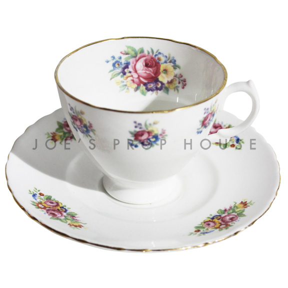 Leah Floral Teacup and Saucer
