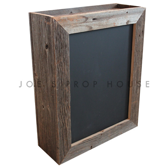 Double Sided Chalkboard Barnwood Box Frame