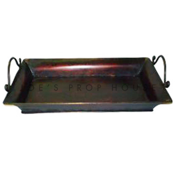 Brenda Bronze Metal Serving Tray w/handles