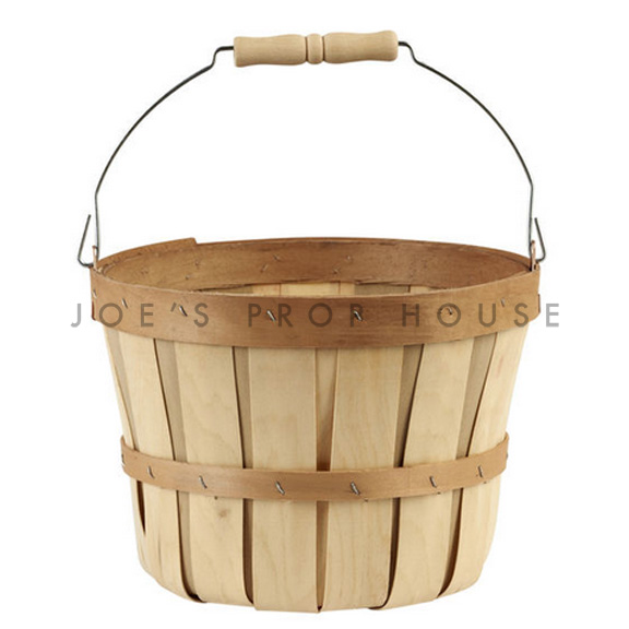 Chipwood Bushel Basket w/Swing Handle SMALL