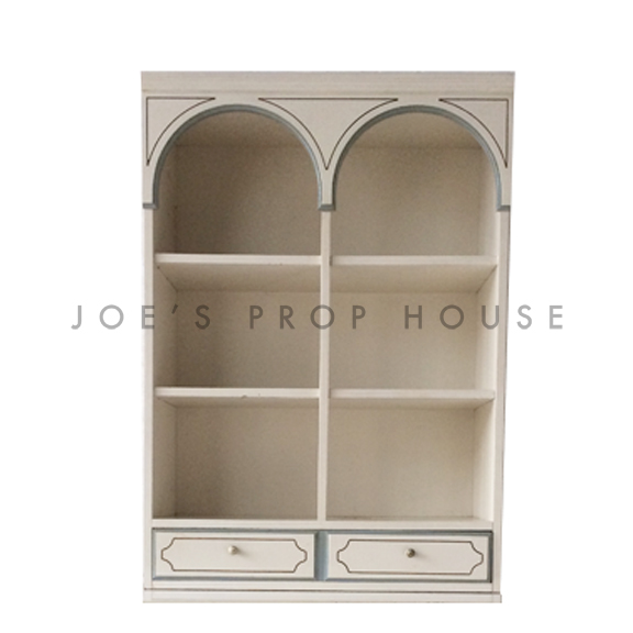 Amanda Arch Hutch Ivory w/Blue Trim