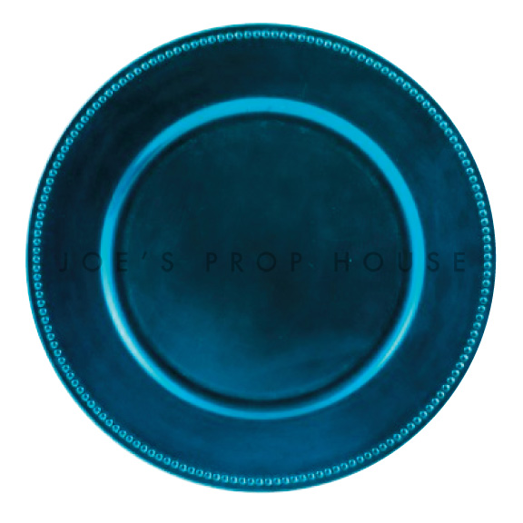 Ocean Blue Beaded Charger Plate