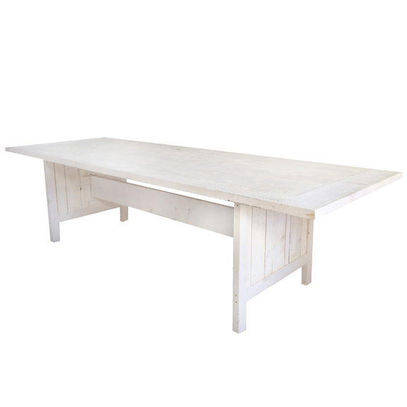 Whitewash Farm Table White L108po x P39po x H30po