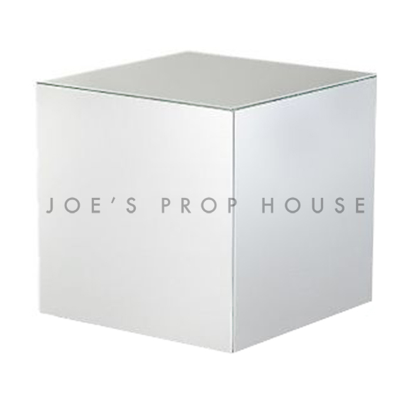 Silver Chrome Cube Display Riser W10in x H10in x D10in