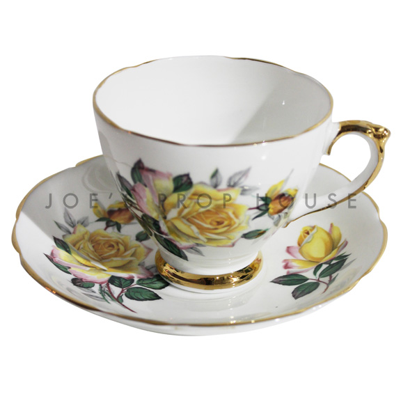Catrina Floral Teacup and Saucer