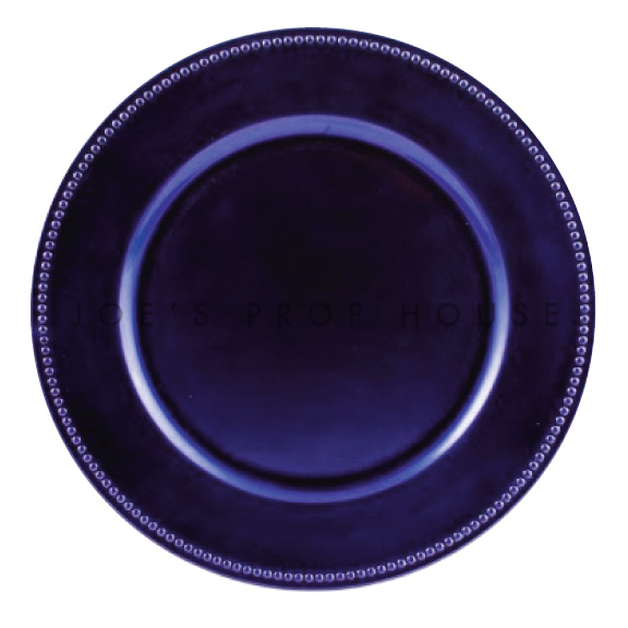 Royal Purple Beaded Charger Plate