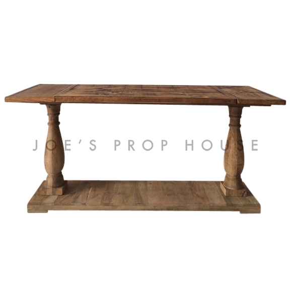 Reclaimed Console Table w/8ft Plank Top