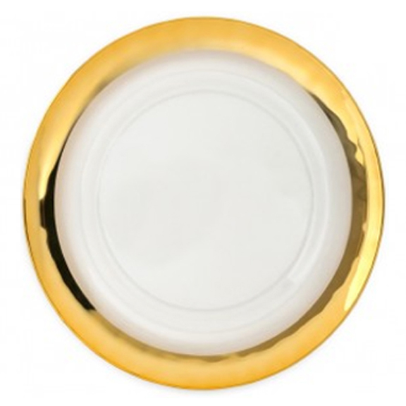 Gold Band Clear Glass Charger Plate