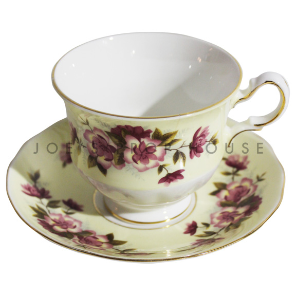 Penelope Floral Teacup and Saucer