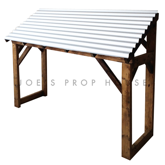 Corrugated Metal Awning Structure
