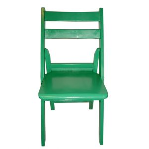 Green Wood Folding Chair