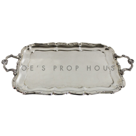 Wellington Rectangular Scallop Silver Serving Tray