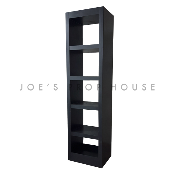 4 Shelf Single Tower Barback Black