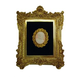 Gold Frame Pink Cameo Wall Art