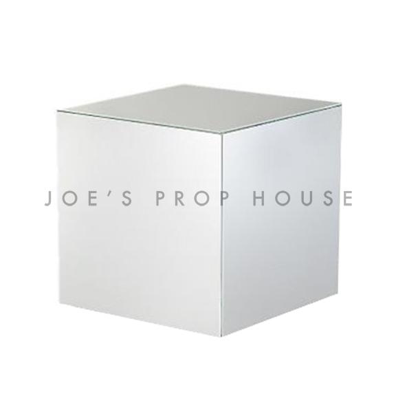 Riser d'affichage de cube de chrome argenté W8in x H8in x D8in