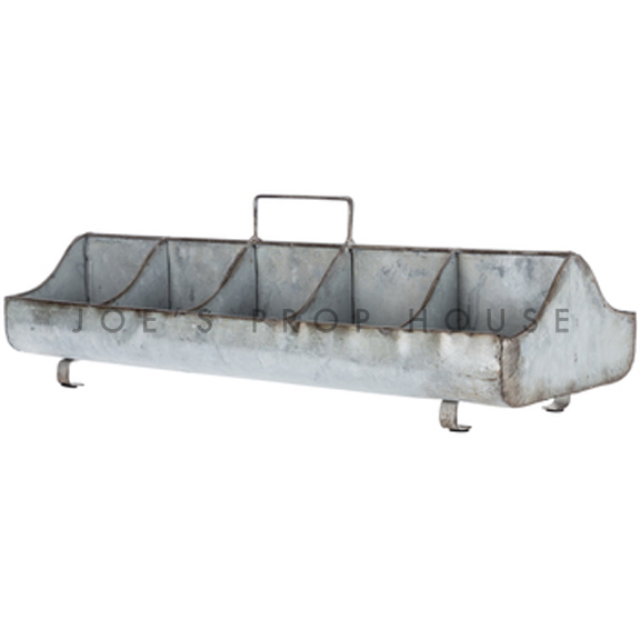 Galvanized Metal Condiments Caddy