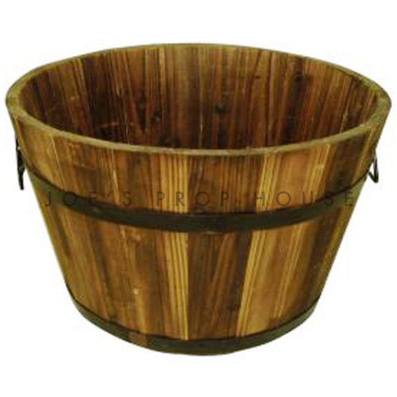 Edmond Round Wood Bucket Large