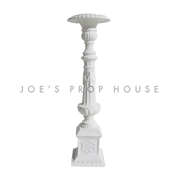 Baroque Candlestick Medium White