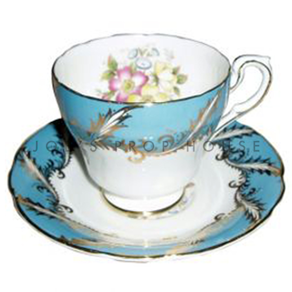 Cecile Floral Teacup and Saucer