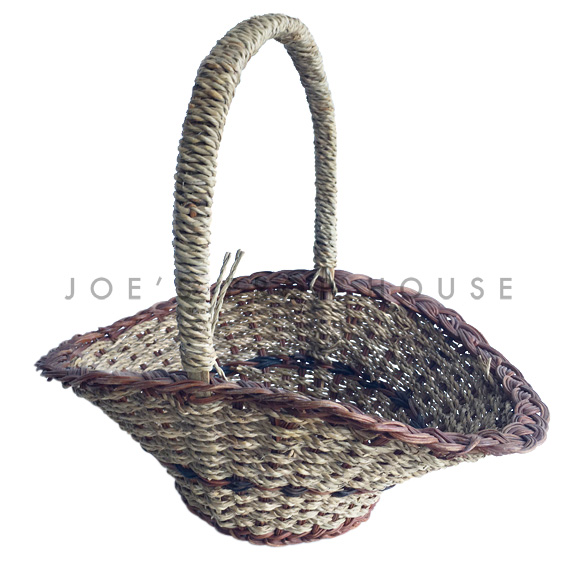 Darla Oval Wicker Basket w/Handle