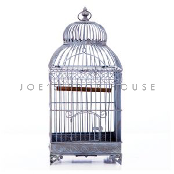 Tabatha Grey Metal Birdcage