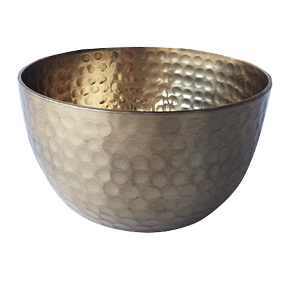 Hammered Metal Bowl Matte Gold SMALL
