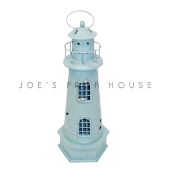 Metal Lighthouse Lantern Teal