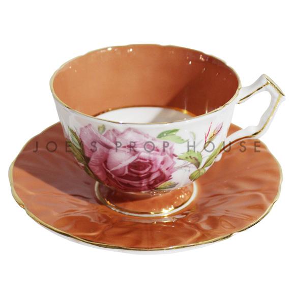 Tasse à thé et soucoupe Roses