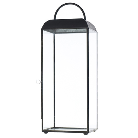 Maxwell Black Metal Lantern Large H18in
