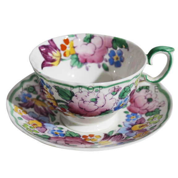 Maybelle Floral Teacup and Saucer