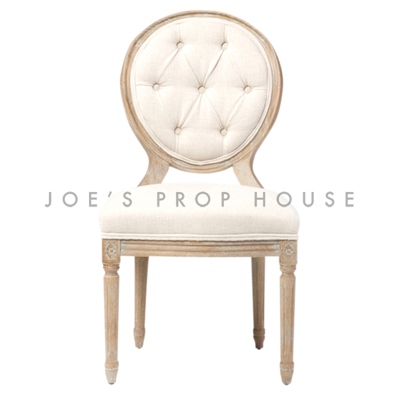 Tufted Reclaimed Linen Dining Chair