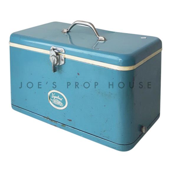 Vintage Vagabond Metal Cooler Blue