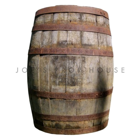 Large Distressed Brown Barrel