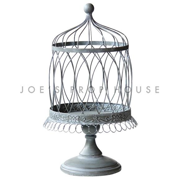 Everly Cage à gâteau en métal gris