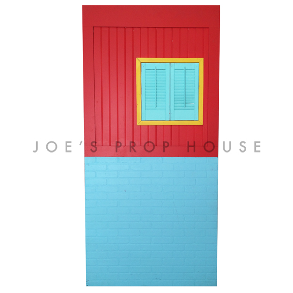 Self-Standing Rainbow Rowhouse Wall No.1 W4ft x H8ft