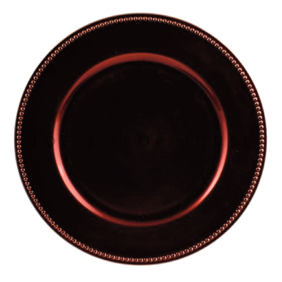 Espresso Brown Beaded Charger Plate