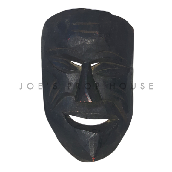Adusa African Wooden Mask Dark Brown