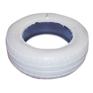 White Painted Tire D16in