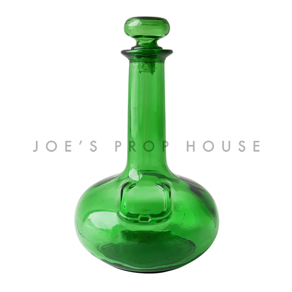 Helena Glass Decanter Green