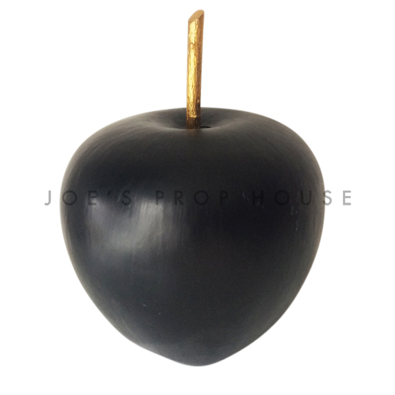 Giant Black Apple w/Stem