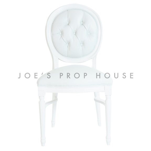 Glam Tufted Dining Chair White