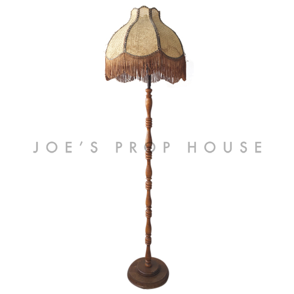 Wicker Fringe Floor Lamp Brown