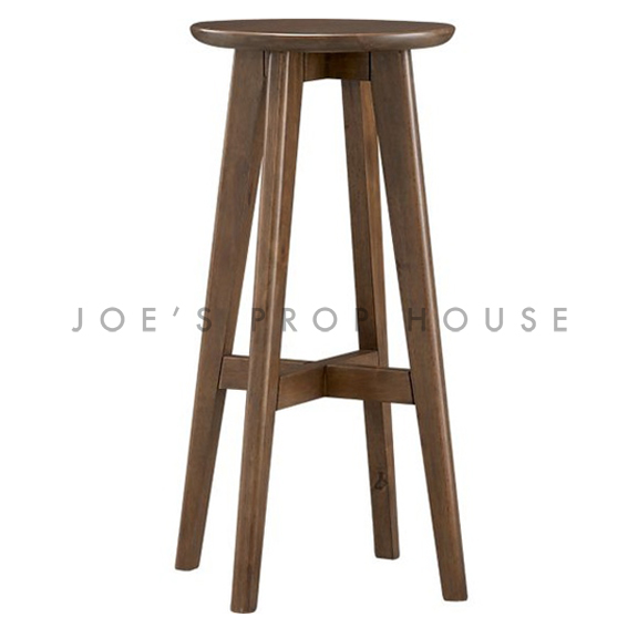Walnut Wooden Stool brown