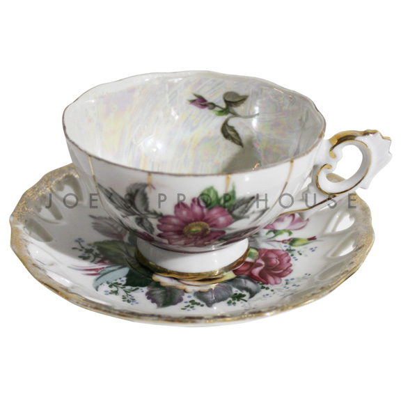Hilda Floral Teacup and Saucer