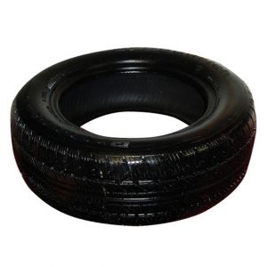 Black Painted Tire